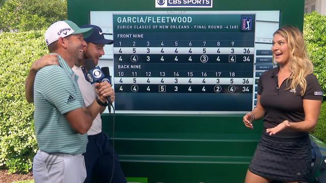 Tommy Fleetwood and Sergio Garcia's interview after Round 4 at Zurich Classic