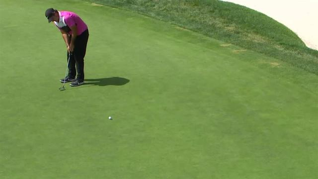 Patrick Reed's birdie putt on No. 10 at Rocket Mortgage
