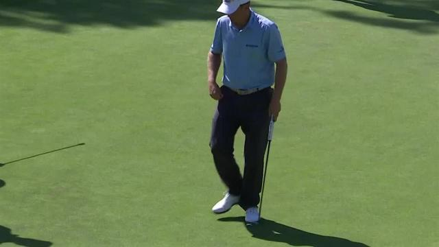 Billy Hurley III drains 28-foot birdie putt at Rocket Mortgage