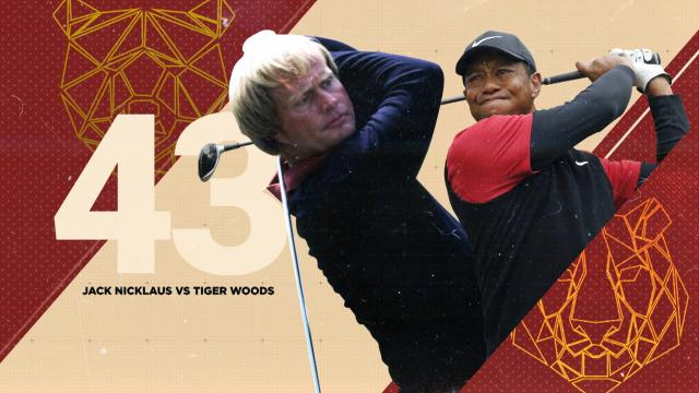 Comparing Jack and Tiger at the age of 43