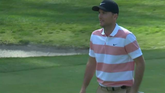 Russell Henley drains long eagle putt at Genesis