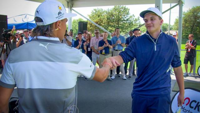 A Mother's Wish: Anthony meets his hero Rickie Fowler