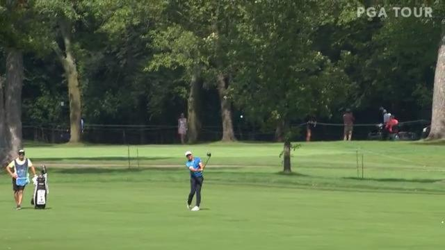 PGA TOUR   Victor Hovland's driver off the deck leads to birdie at BMW Championship