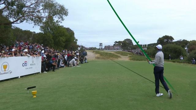Using the slopes at Royal Melbourne in the Presidents Cup