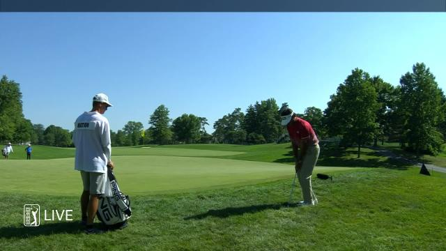 Bubba Watson makes birdie on No. 7 in Round 3 at the Memorial