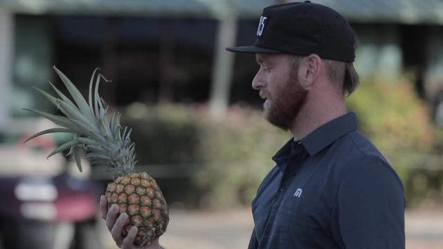 PGA TOUR players smash fruit at the Sony Open