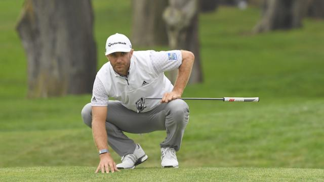 DJ leads PGA with defending champ Koepka close behind and DeChambeau flashes flatstick skills