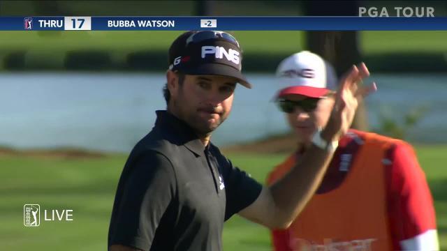 Bubba Watson uses 3-wood to sink birdie putt at Valspar