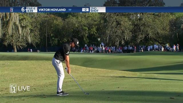 Viktor Hovland makes birdie on No. 6 in Round 1 at Vivint Houston Open