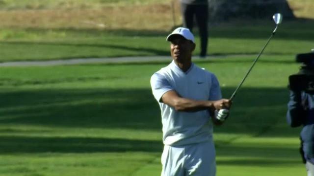 Tiger Woods uses nice approach to set up birdie at Genesis