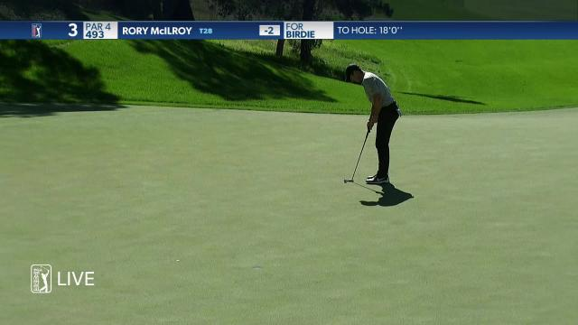 Rory McIlroy sinks 19-footer for birdie at THE CJ CUP