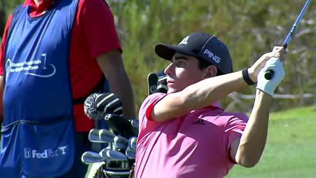 Joaquin Niemann navigates No. 2 for birdie at Shriners
