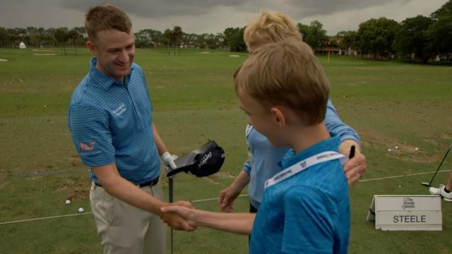 Lucky DeTray meets the pros at The Honda Classic