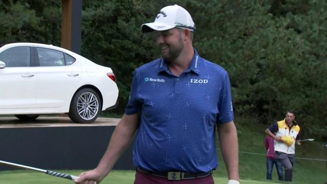 Marc Leishman's tight tee shot leads to birdie at THE CJ CUP