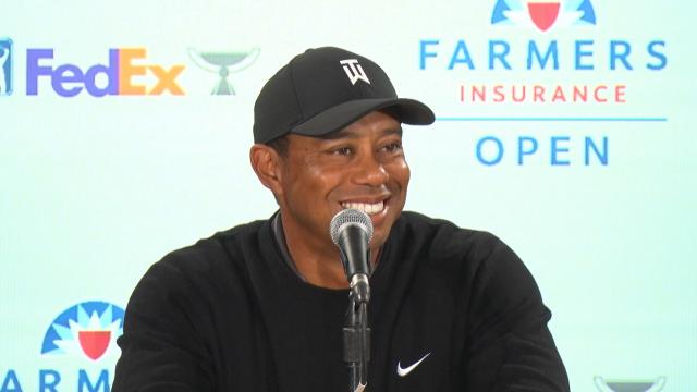 Tiger Woods comments on his health before the Farmers Insurance Open