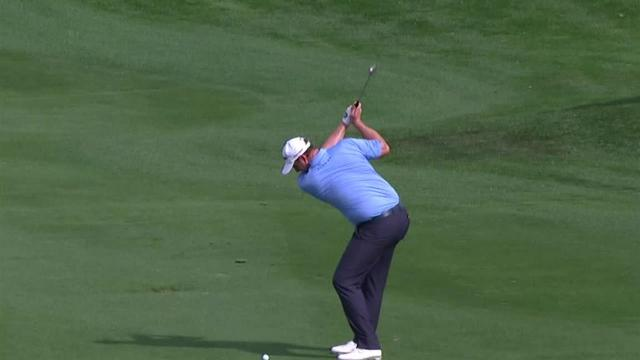 Sepp Straka nearly holes out for eagle at The American Express