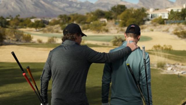 Maverick McNealy and dad play TPC Summerlin