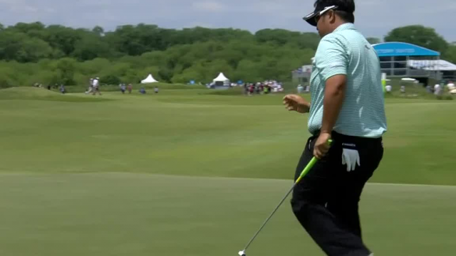 Kiradech Aphibarnrat leads the field in putting the AT&T Byron Nelson