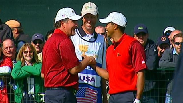 Tiger Woods and Phil Mickelson as teammates
