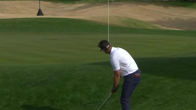 Hank Lebioda gets up-and-down for birdie at The American Express