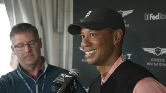 Tiger Woods' interview after Round 1 of Genesis