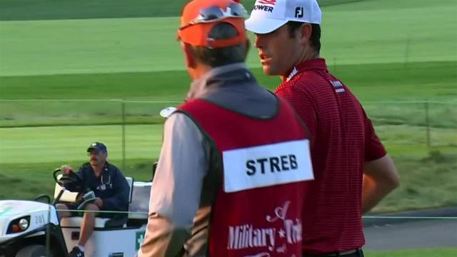 Robert Streb drains 16-footer for birdie at The Greenbrier