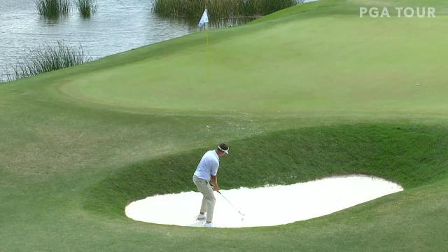 Keith Mitchell's up-and down from bunker birdie at Zurich Classic