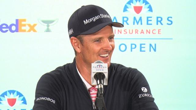 Justin Rose comments before the Farmers Insurance Open