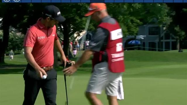 Andrew Landry uses nice approach to set up birdie at Travelers