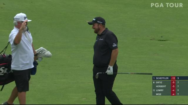 Shane Lowry flies in 90-yard shot for hole-out birdie at the Memorial