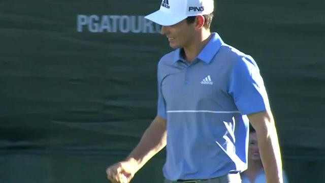 Joaquin Niemann sinks a 21-foot birdie on No. 18 in Round 4 at The Greenbrier