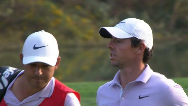 Rory McIlroy's approach yields birdie putt at WGC-HSBC Champions
