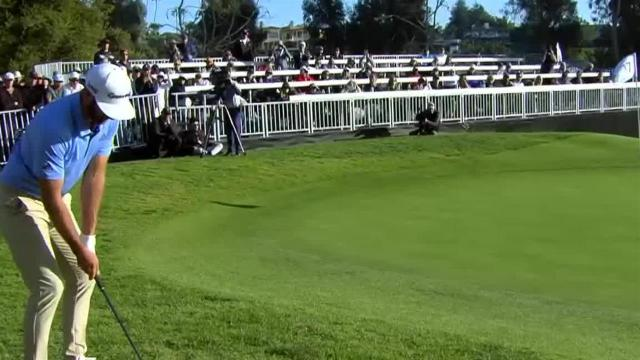 Dustin Johnson chips in for eagle at Genesis