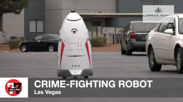 Las Vegas Review Journal News | Security robot keeps watch at Las Vegas apartment complex