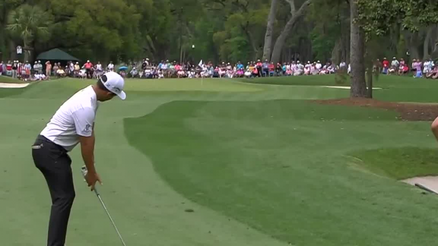 Xander Schauffele's solid approach on No. 6 at RBC Heritage
