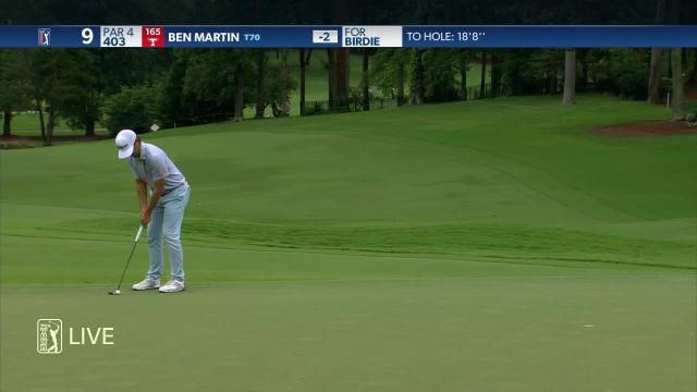 Ben Martin birdies No. 9 in Round 4 at Wyndham