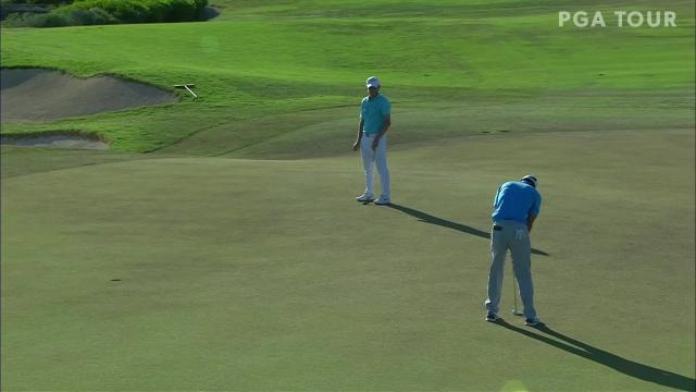 James Hahn's par save on the 18th hole in the final round of the 2020 Corales Puntacana