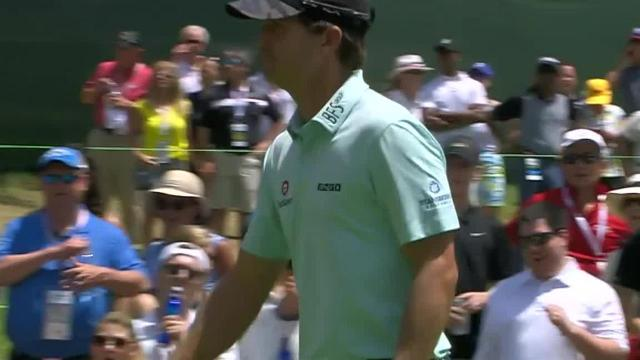 Kevin Kisner's lengthy birdie putt on No. 18 at Rocket Mortgage
