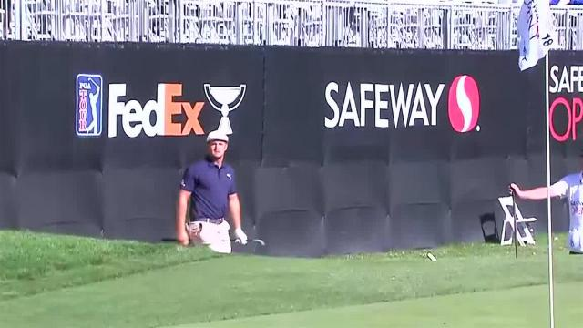 Bryson DeChambeau gets up-and-down for birdie at Safeway Open