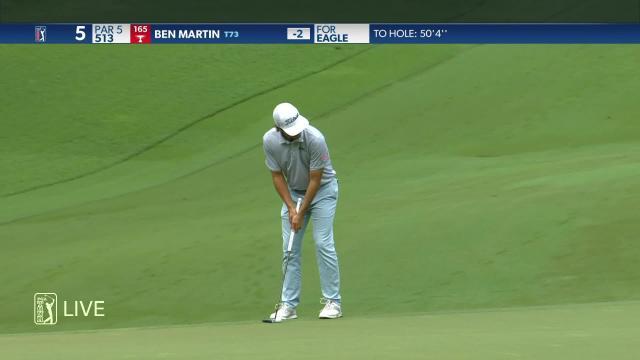 Ben Martin birdies No. 5 in Round 4 at Wyndham