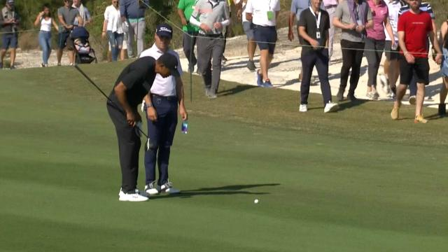 Tournament host Tiger Woods teases Justin Thomas at Hero World Challenge