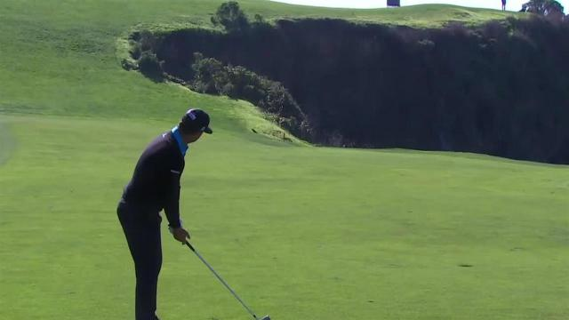 Scott Piercy reaches in two to set up birdie at AT&T Pebble Beach