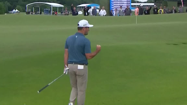 Matt Every's solid eagle chip shot at AT&T Byron Nelson