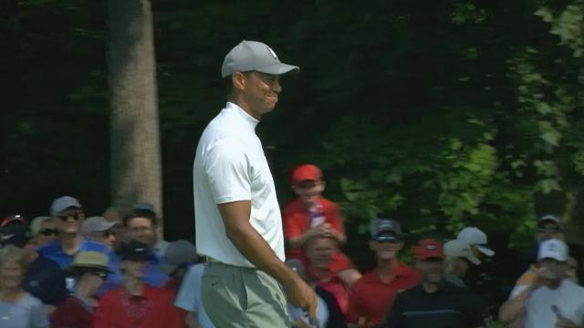 Today's Top Plays: Tiger Woods chips in from bunker for the Shot of the Day