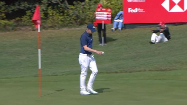 Matthew Fitzpatrick's approach yields birdie putt at WGC-HSBC Champions