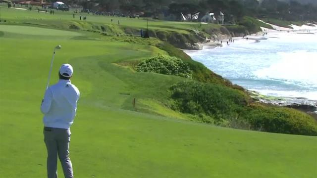 Nick Taylor's impressive approach leads to birdie at AT&T Pebble Beach