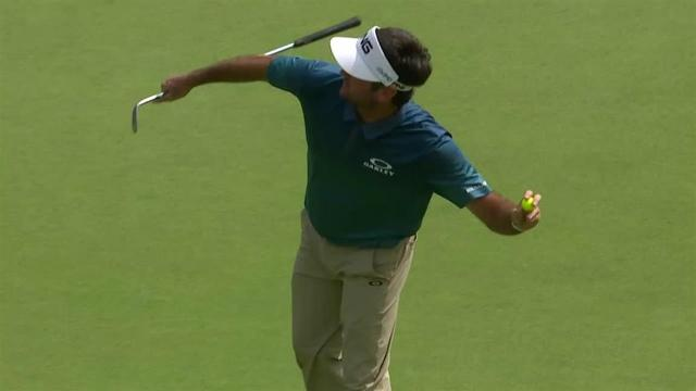 Bubba Watson's chip-in on No. 18 at Travelers