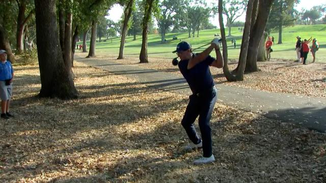 Phil driver from the woods, Kuchar's near ace, Higgs calls it