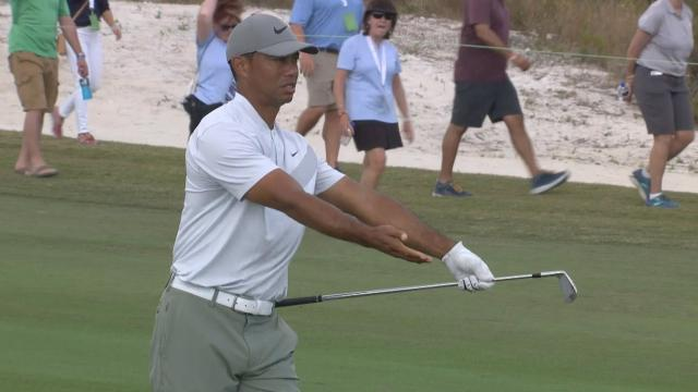 Tiger ties low round, Reed's hat tip highlight & Woodland's cringe-worthy lip-out