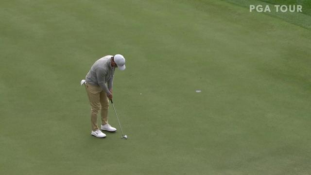 Paul Casey birdies No. 10 in Round 3 at The American Express